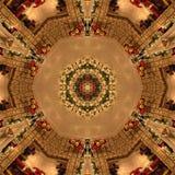 Brun abstrakt Mandala Kaleidoscope textur royaltyfria bilder