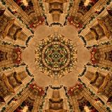 Brun abstrakt Mandala Kaleidoscope textur arkivfoton