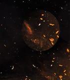 Brun abstrakt utrymmebakgrund Royaltyfri Fotografi