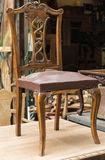 Brun antik stol Royaltyfri Foto