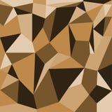 Brun bakgrund för abstrakta polygoner Arkivbild