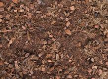 Brun bakgrund för komposttäckning Fotografering för Bildbyråer
