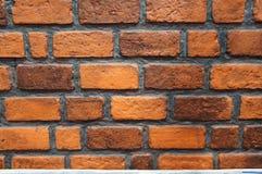 Brun bakgrund för tegelstenvägg av byggnad Arkivfoto