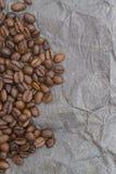 Brun bakgrundsmodell från kaffekorn Arkivbilder