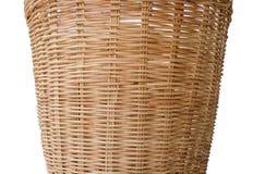 Brun bambukorgarbete Arkivfoto