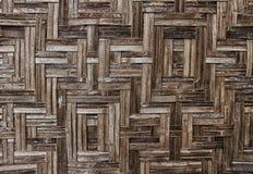 Brun bambustaketbakgrund Royaltyfri Foto