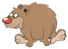 Brun björn cartoon Arkivfoton