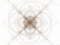 Brun blom- modell i form av en abstrakt fractal Fotografering för Bildbyråer