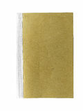 Brun bok på vit bakgrund Royaltyfri Bild