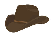 Brun cowboyhatt stock illustrationer