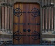 Brun dörr 1 Arkivfoto