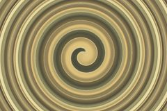 Brun d'or en spirale abstrait Photos stock