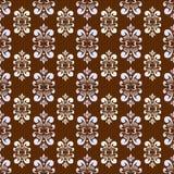 Brun damast mönstrar Royaltyfri Fotografi
