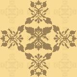 brun damastast wallpaper Stock Illustrationer
