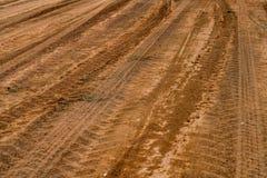 Brun dammväg Royaltyfri Fotografi