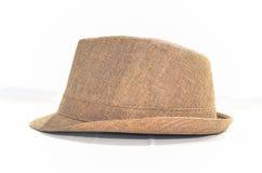 Brun de chapeau de Fedora Photo libre de droits