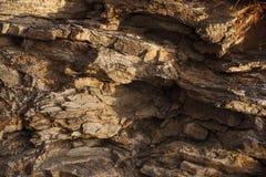 Brun de pierre de roche, nature, utilisation comme fond image libre de droits