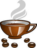 Brun de tasse de Cofee Image libre de droits