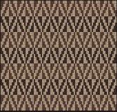 Brun de tricotage 2 de chandail de modèle illustration de vecteur