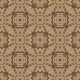 Brun dekorativ sömlös linje modell Arkivbilder
