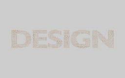brun designgrey Royaltyfri Fotografi