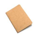 Brun ecoanteckningsbok eller urklippsbok Arkivbilder