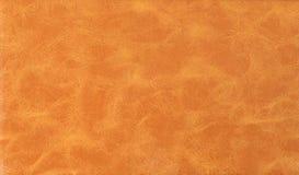 brun färglädertextur Arkivfoto
