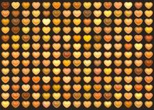 brun för hjärtaförälskelse för samling 3d orange Arkivfoton