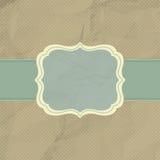brun för prickeps för design 8 tappning för polka för ram Royaltyfria Bilder