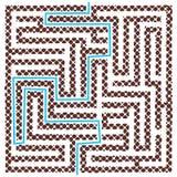 Brun fyrkantig labyrint med hjälp Fotografering för Bildbyråer