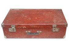 brun gammal resväska royaltyfri foto