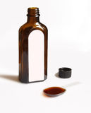 brun glass medicinal skedsirapliten medicinflaska Royaltyfri Fotografi
