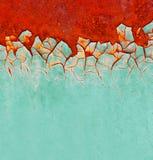 brun grön rost för bakgrund Arkivfoto