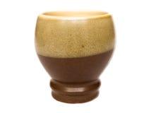 brun half vase Arkivbilder