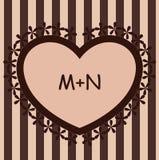 brun hjärta för bakgrund Royaltyfri Fotografi