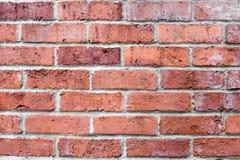 Brun horisontaltegelstenvägg för apelsin Bakgrund för design Arkivfoto