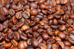 brun kaffebakgrund Arkivfoto