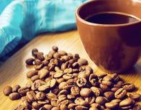 brun kaffekopp Royaltyfri Bild