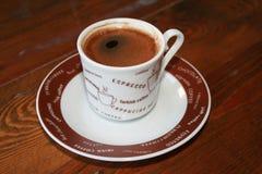 brun kaffekopp Arkivfoto