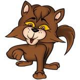 brun katt stock illustrationer