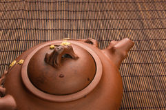brun kinesisk tekanna Royaltyfri Foto