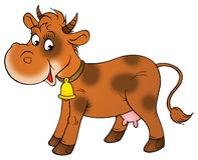 brun ko Arkivbilder
