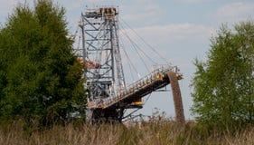 Brun kolgruva i Polen Royaltyfria Foton