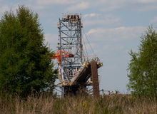 Brun kolgruva i Polen Royaltyfri Fotografi