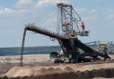 Brun kolgruva i Polen Arkivfoto