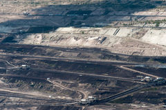 Brun kolgruva i Polen Royaltyfri Foto