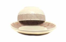 brun kopp på en platta Royaltyfri Foto