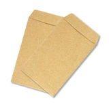 brun kuvertwhite för bakgrund Royaltyfri Bild