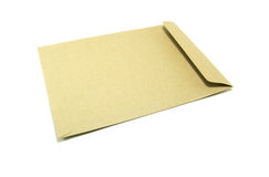 brun kuvertwhite för bakgrund Arkivbild