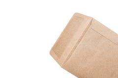 brun kuvertwhite för bakgrund Arkivfoto